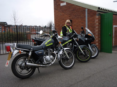 Judith with some of the 2 Wheel Training machines