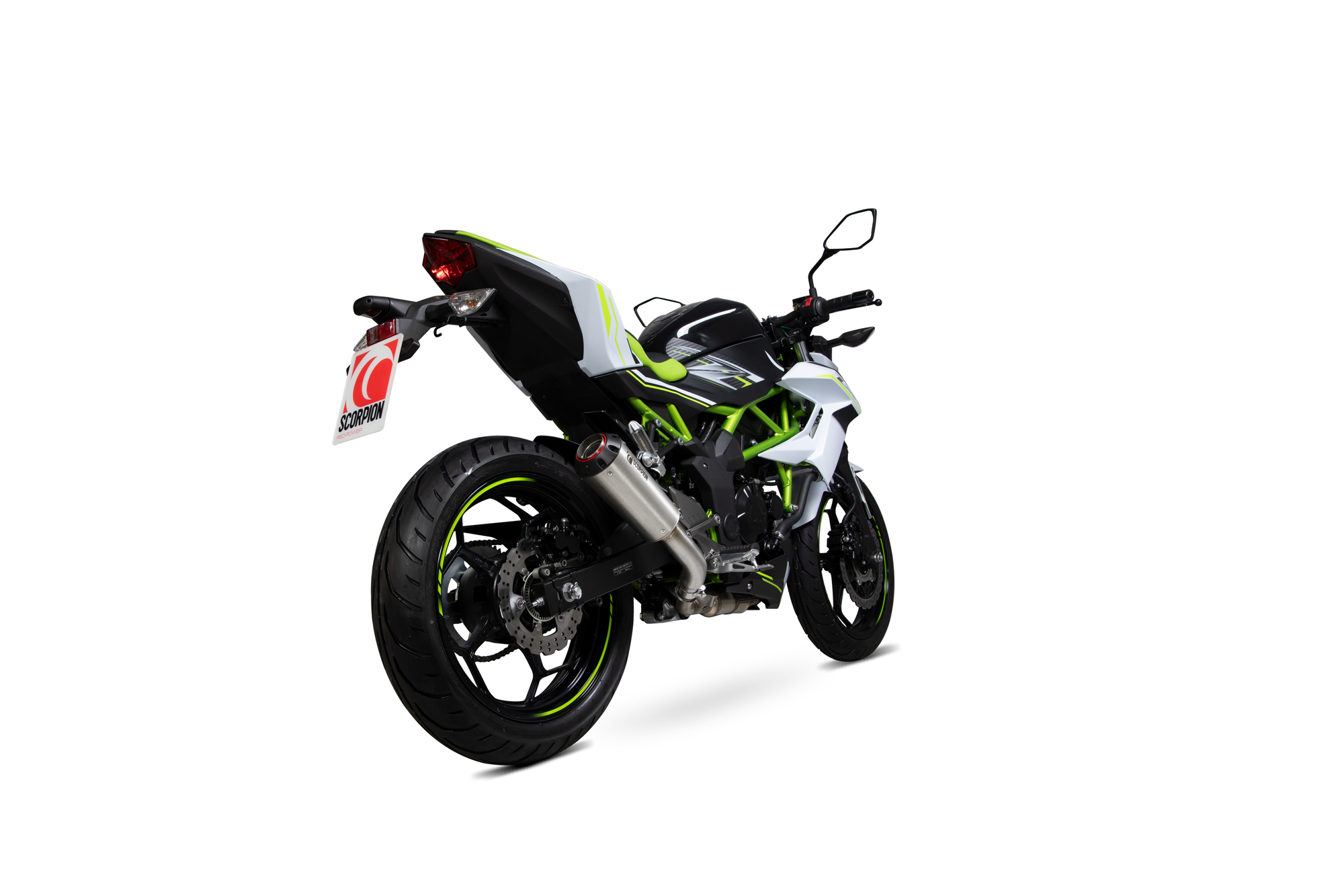 Scorpion Red Power Slip-On Exhaust - Kawasaki Z125 (2018 - Current)