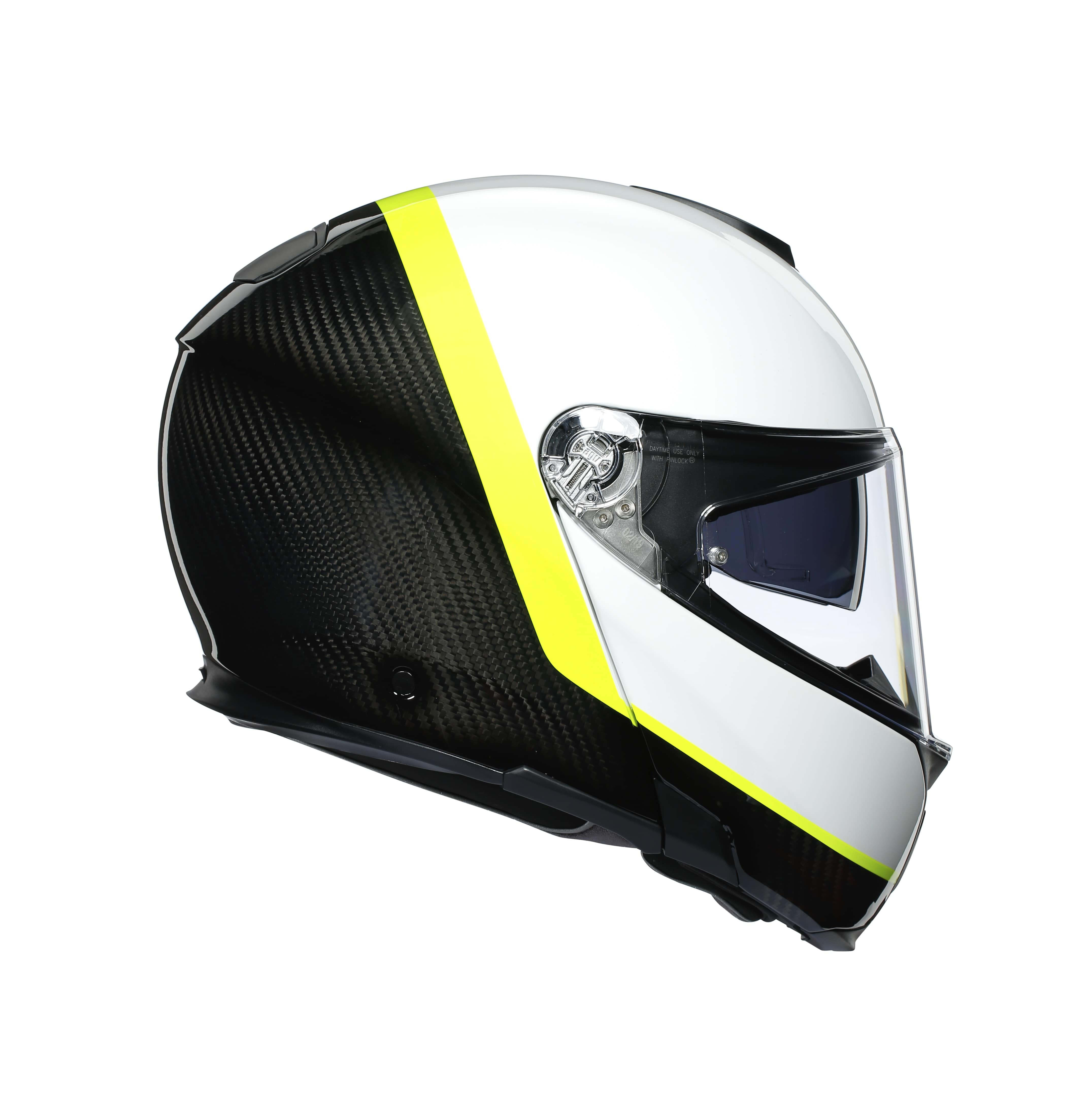 Agv Sport Modular Ray Carbon White Fluo Yellow Agv Flip Front Helmets Free Uk Delivery