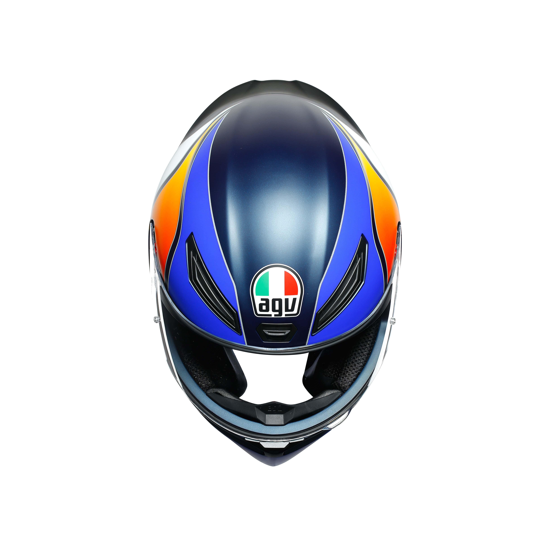 Agv K1 Power Matt Dark Blue Orange White Agv Motorcycle Helmets Free Uk Delivery