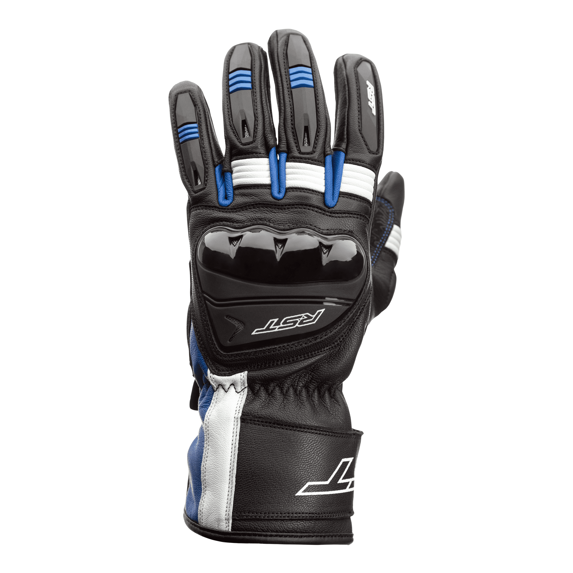 RST Pilot CE Blue Leather Amara Motorcycle Glove Size 09
