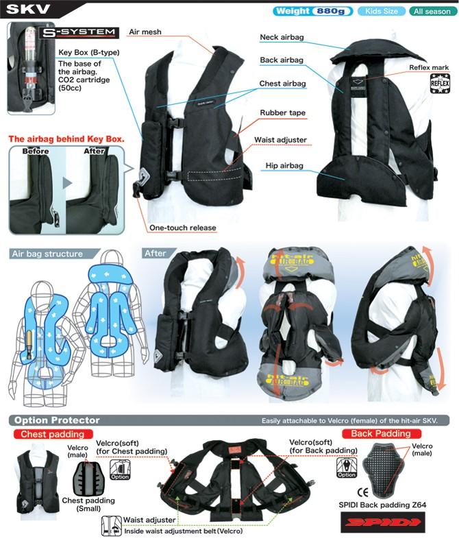 hit air skv childrens airbag vest free uk delivery. Black Bedroom Furniture Sets. Home Design Ideas