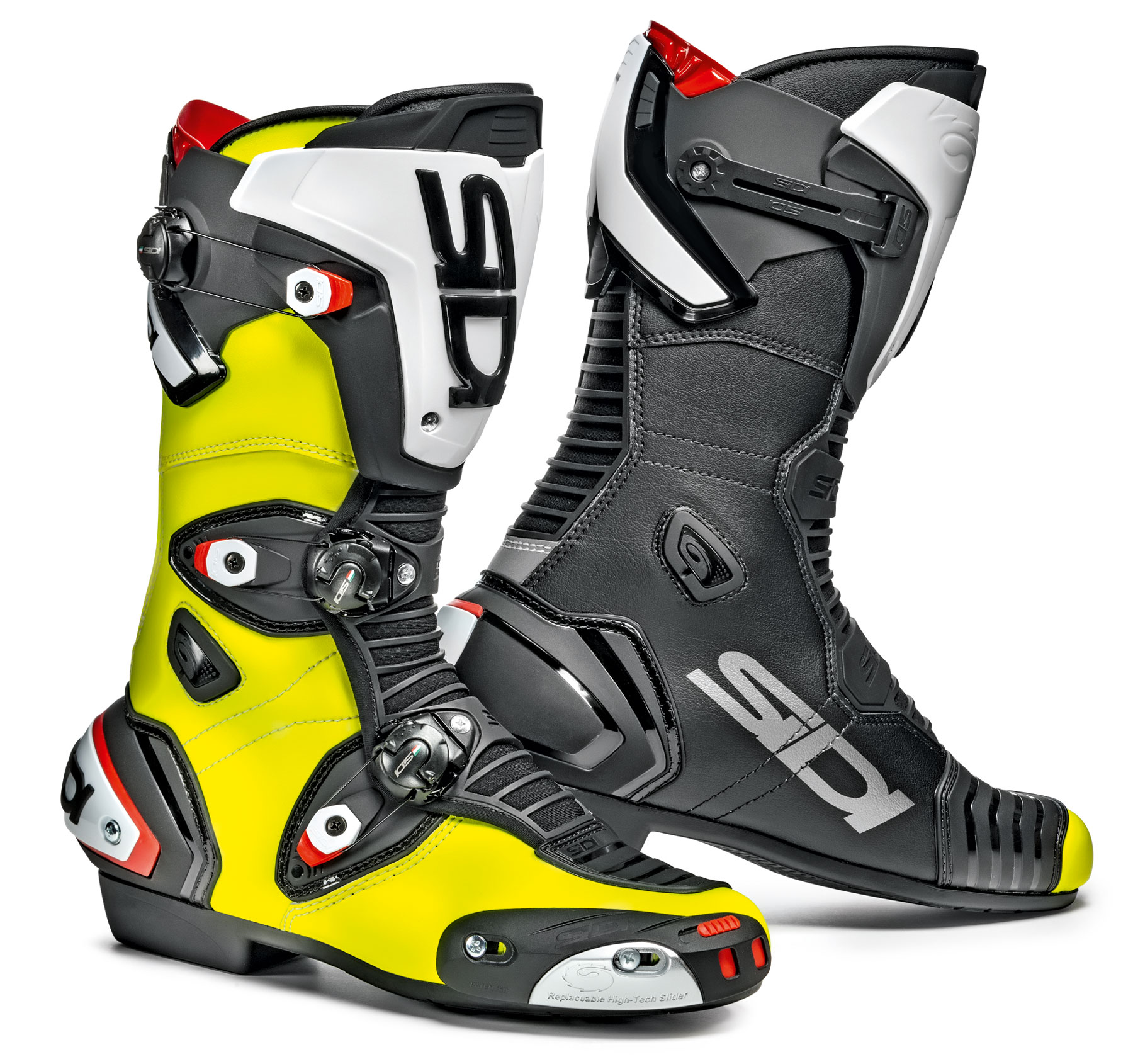 Sidi Mag 1 Boots Yellow Black Free Uk Delivery