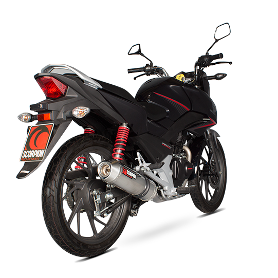 scorpion factory full system exhaust honda cb 125 f free uk delivery. Black Bedroom Furniture Sets. Home Design Ideas