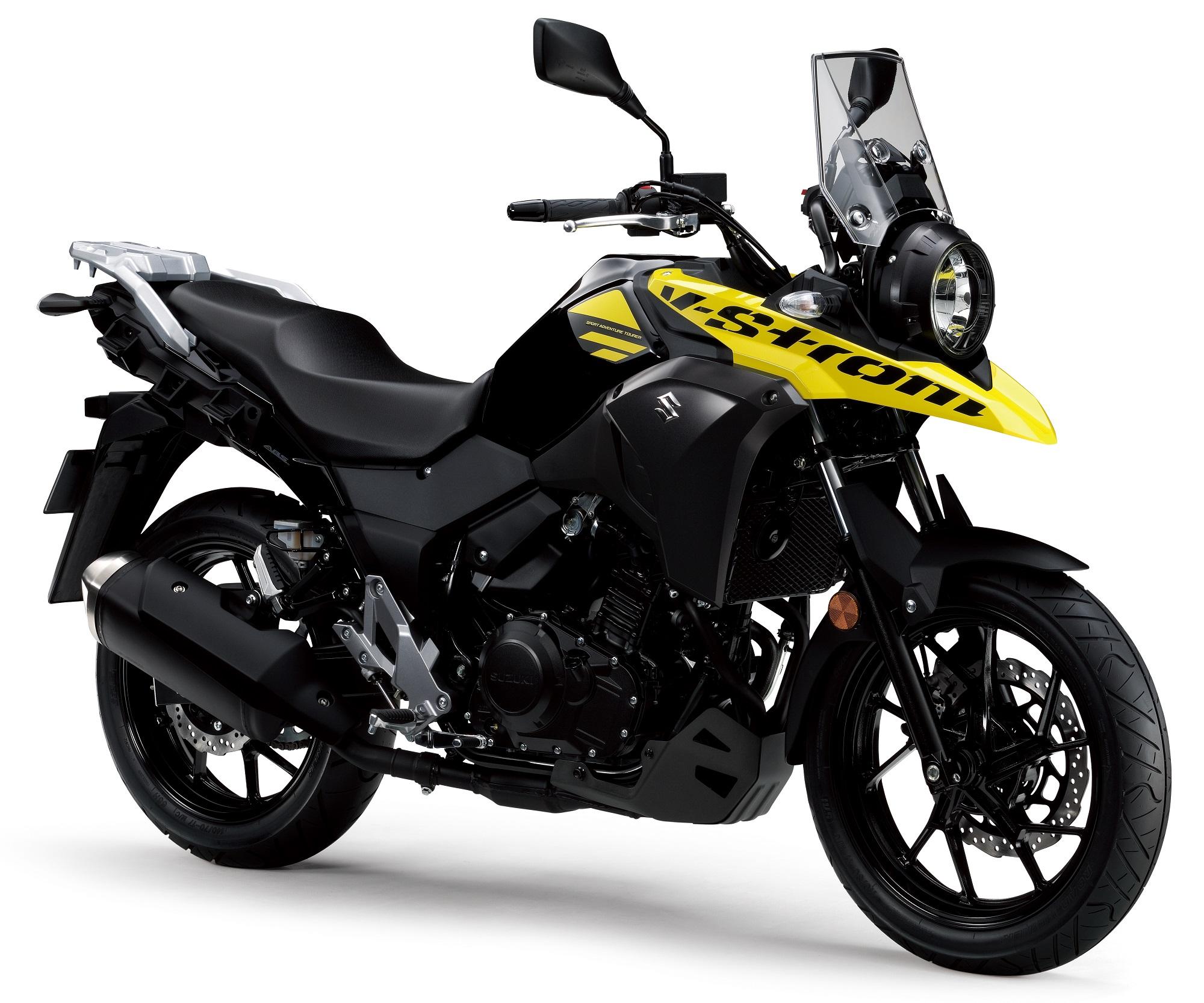 Suzuki V Strom 250 Black Yellow New Suzuki Bikes