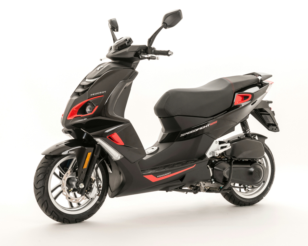 peugeot speedfight 4 125cc black red peugeot scooters. Black Bedroom Furniture Sets. Home Design Ideas