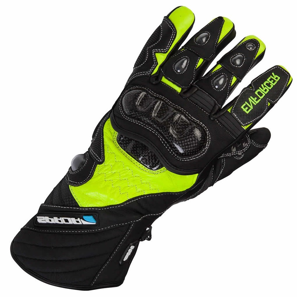 Winter Leather Motorcycle Motorbike Waterproof Gloves High Visibility Yellow