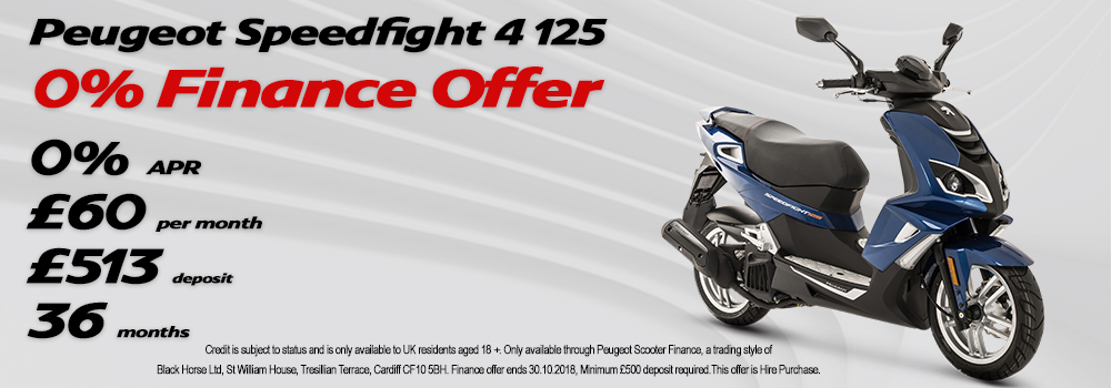 Peugeot Speedfight 4 125cc 0% Finance Offer
