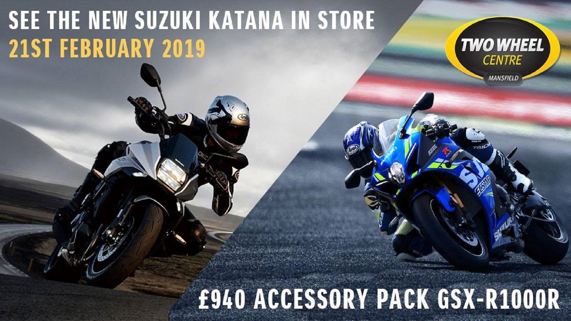 See the new Suzuki Katana in store on 21st February 2019