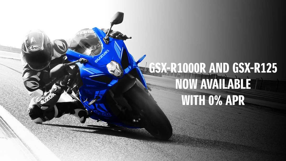 Suzuki GSX-R1000R and GSX-R125 0% Offer
