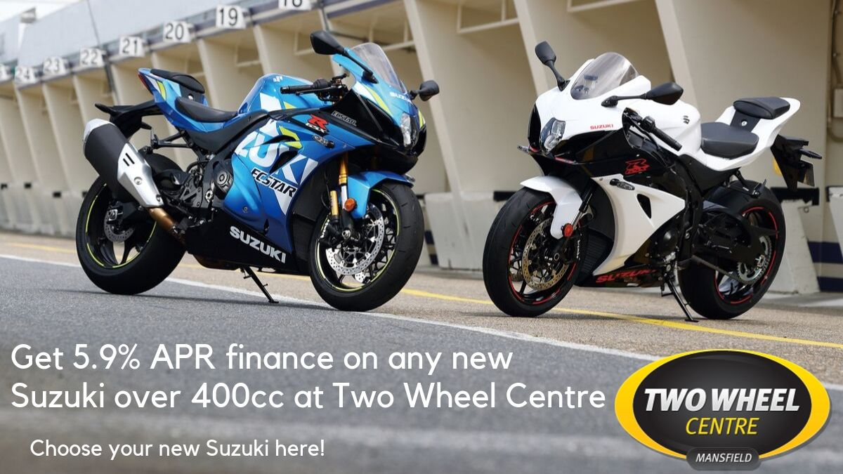 Low Rate 5.9% APR Finance On Any New Suzuki Over 400cc at Two Wheel Centre