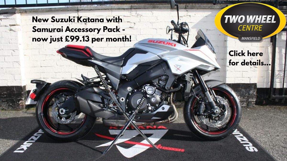 Suzuki Katana With Samurai Accessory Pack Fitted - Now Only £99.13 Per Month