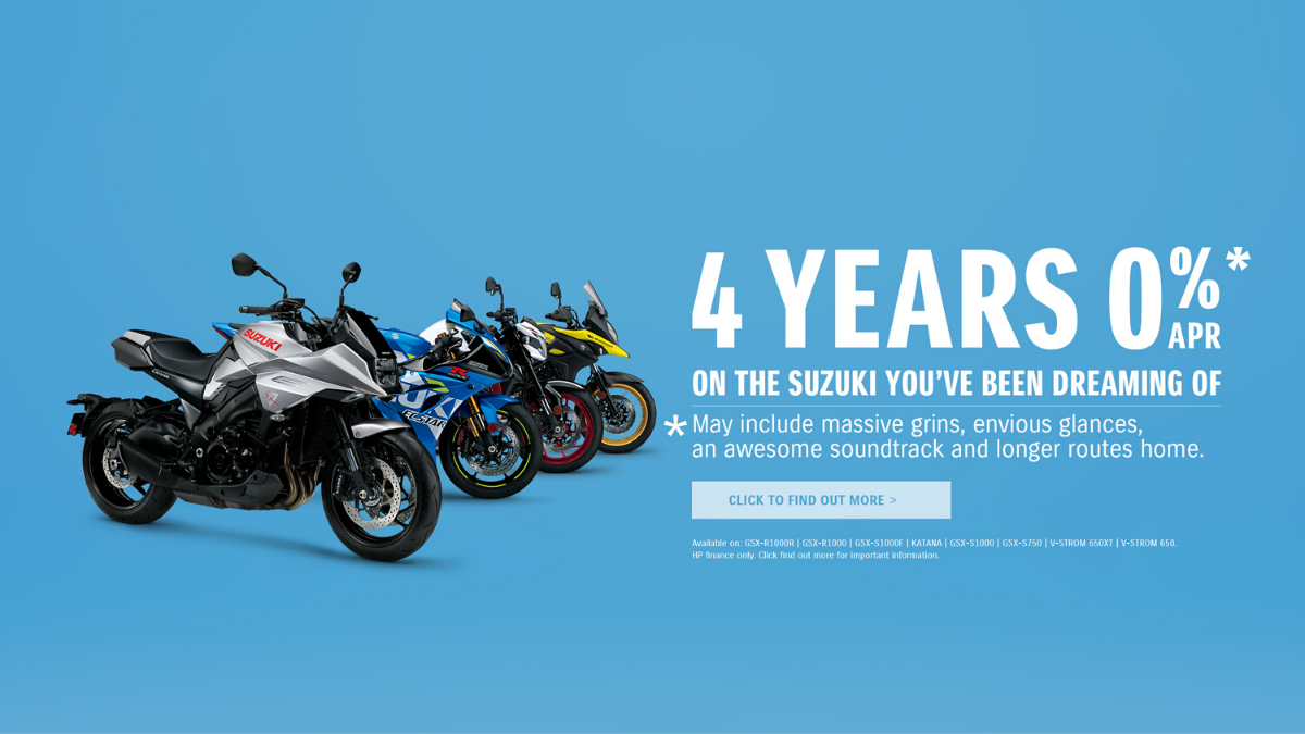 0% Finance Over 4 Years On Your New Suzuki