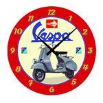 Vespa Wall Clock Scooter