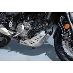 Suzuki V-Strom 650 ABS Aluminium Skid Plate - Brushed Silver