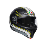 AGV Compact-ST Boston Black / Grey / Yellow Flip Front Helmet