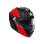 AGV Sport Modular - Stripes - Carbon / Dark Red