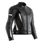 RST GT Ladies CE Leather Jacket - Black / White