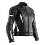 RST GT Ladies CE Leather Jacket - Black / White