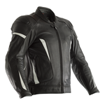 RST GT CE Leather Jacket - Black / White