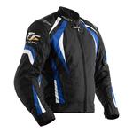 RST Isle Of Man TT Grandstand CE Textile Jacket - Black / Blue