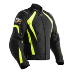 RST Isle Of Man TT Grandstand CE Textile Jacket - Black / Flo Yellow