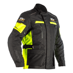 RST Isle Of Man TT Sulby CE Textile Jacket - Black / Flo Yellow