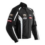 RST Isle Of Man TT Team CE Textile Jacket - Black / White