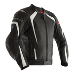 RST R-Sport CE Leather Jacket - Black / White