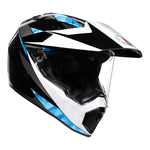 AGV AX9 - North - Black / White / Cyan