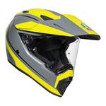 AGV AX9 - Pacific Road - Matt Grey / Flo Yellow / Black