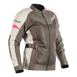 RST Gemma 2 Ladies Vented CE Jacket - Gunmetal / Flo Pink