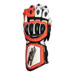 RST Tractech Evo R CE Gloves - White / Black / Flo Red
