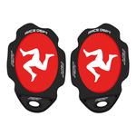 RST Flag Series Knee Sliders - Manx Red