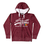 RST Ladies Full Zip Hoodie - Burgundy