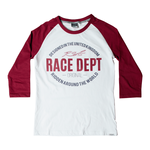 RST Ladies Original 1988 T-Shirt - White / Burgundy