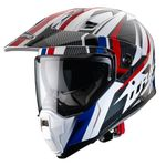 Caberg X-Trace Savana - White / Black / Blue / Red | Caberg Helmets at Two Wheel Centre