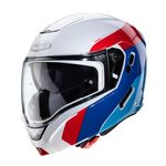 Caberg Horus Scout Flip Front Helmet - White / Red / Blue | Caberg Helmets at Two Wheel Centre