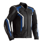RST Axis Leather Jacket - Black / Blue / White