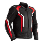 RST Axis Leather Jacket - Black / Red / White