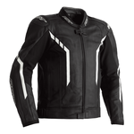 RST Axis Leather Jacket - Black / White