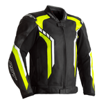 RST Axis Leather Jacket - Black / Flo Yellow / White