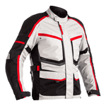 RST Maverick Textile Jacket - Silver / Black / Red