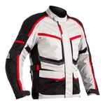 RST Maverick Textile Jacket - Silver / Black / Red
