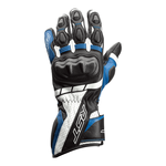 RST Axis CE Leather Gloves - Black / Blue / White