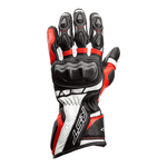 RST Axis CE Leather Gloves - Black / Red / White