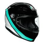 AGV Helmets - AGV K6 Minimal - Black Pearl White Aqua