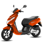 Peugeot Kisbee 50cc - Orange - Two Wheel Centre | Peugeot Scooter Dealers, Mansfield, Notts, UK
