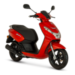 Peugeot Kisbee 50cc - Satin Cherry Red - Two Wheel Centre | Peugeot Scooter Dealers, Mansfield, Notts, UK