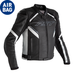 RST Sabre CE Airbag Leather Jacket - Black/White